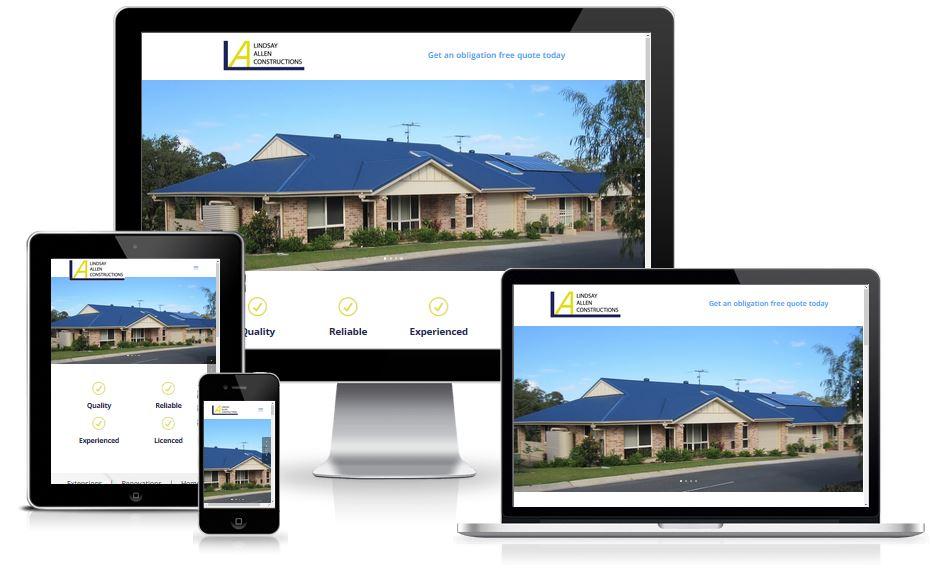 Lindsay Allen Constructions website screen capture